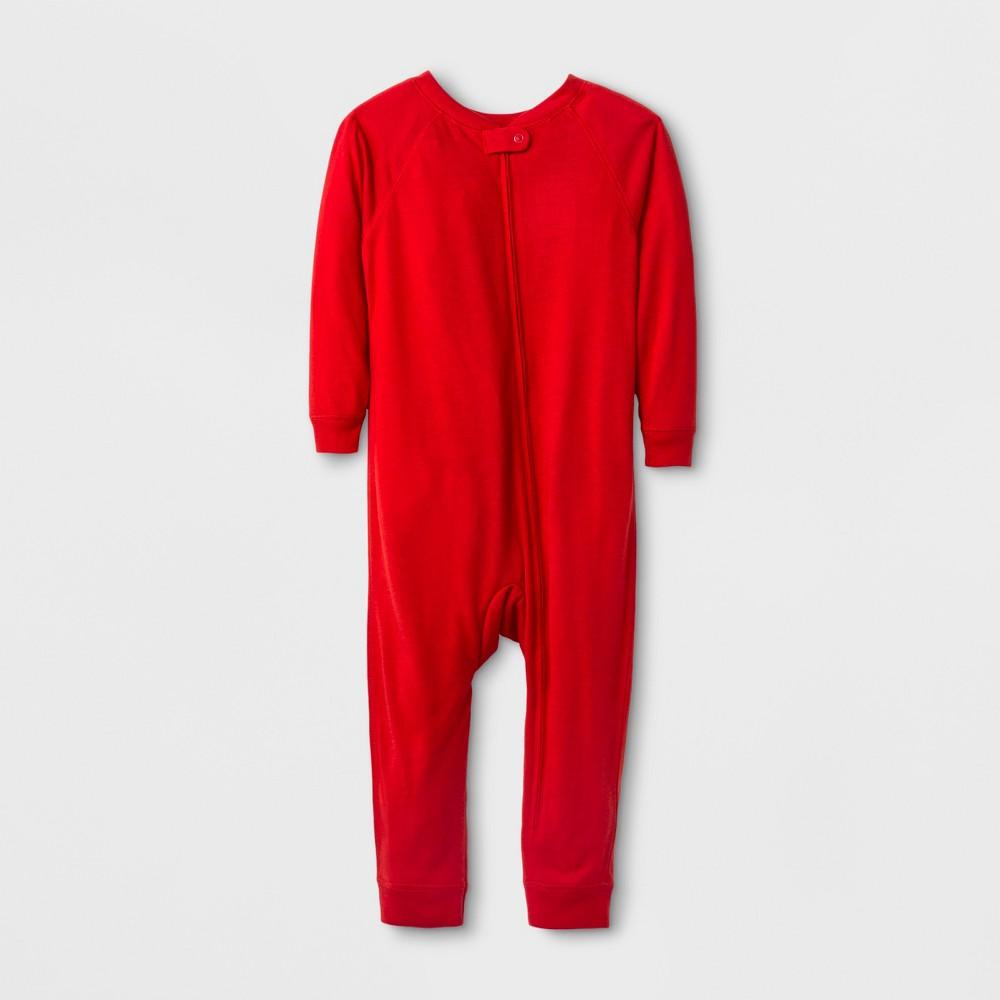 Toddler Adaptive Full Body Jumpsuit - Cat & Jack Wowzer Red 3T, Toddler Unisex