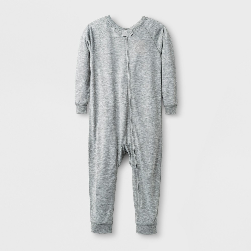 Toddler Adaptive Full Body Jumpsuit - Cat & Jack Heather Gray 3T, Toddler Unisex