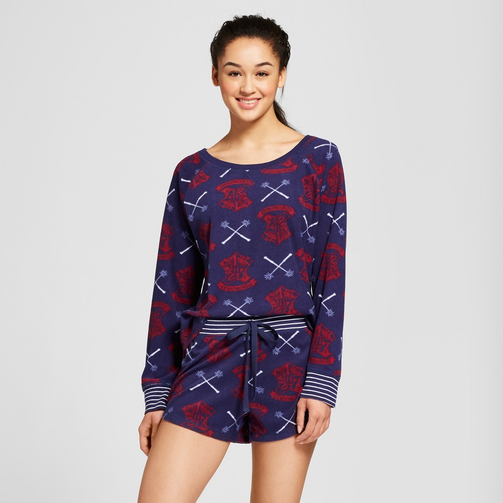Warner Bros. Women's Harry Potter 2pc Pajama Set - Navy M, Blue