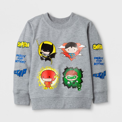 Toddler Boys' DC Comics® Justice League® Crew Neck Long Sleeve T ...