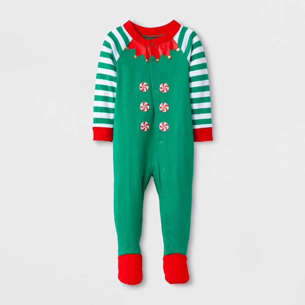 Kids Footed Sleepers - Wondershop Green M (3-6), Kids Unisex, Size: 3-6M