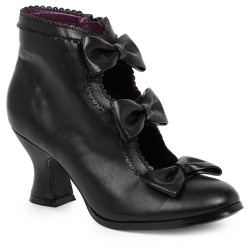 Black Ankle Costume Boots with Bows