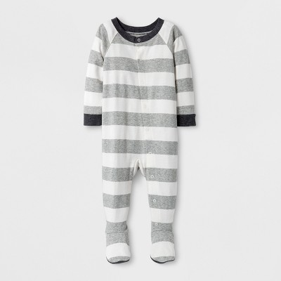 Baby Rugby Striped Bodysuit - Wondershop™ Gray 3-6M
