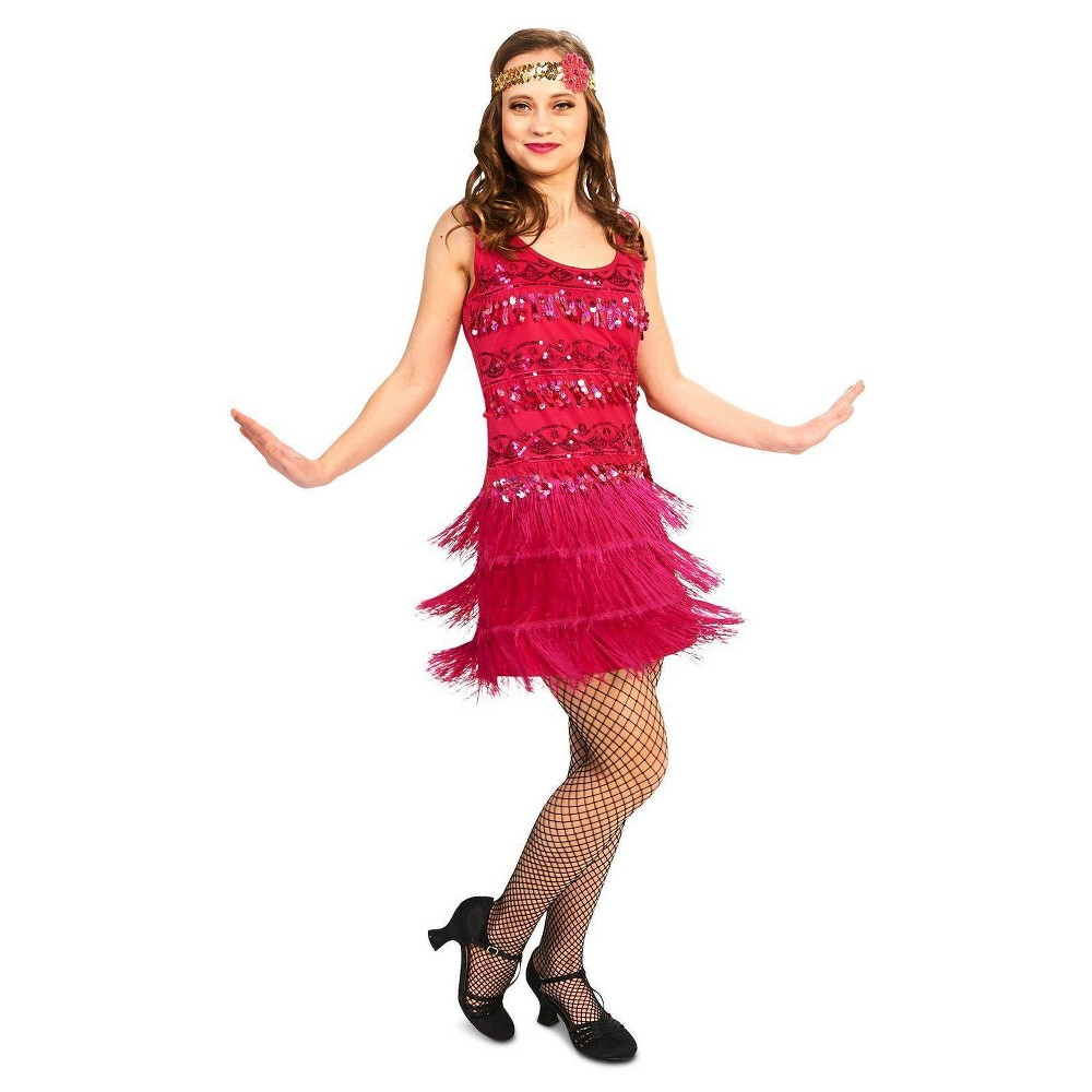 20s Vintage Inspired Flapper Adult Costume Small, Womens, Size: Large, Multi-Colored