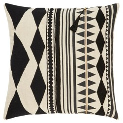 "Gray Moroccan Cosmic Throw Pillow Cover (18""x18"") - Jaipur Living"