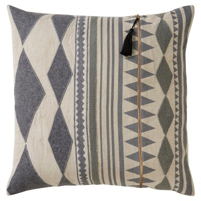 Gray Moroccan Cosmic Poly Throw Pillow (18 x18 )- Jaipur Living