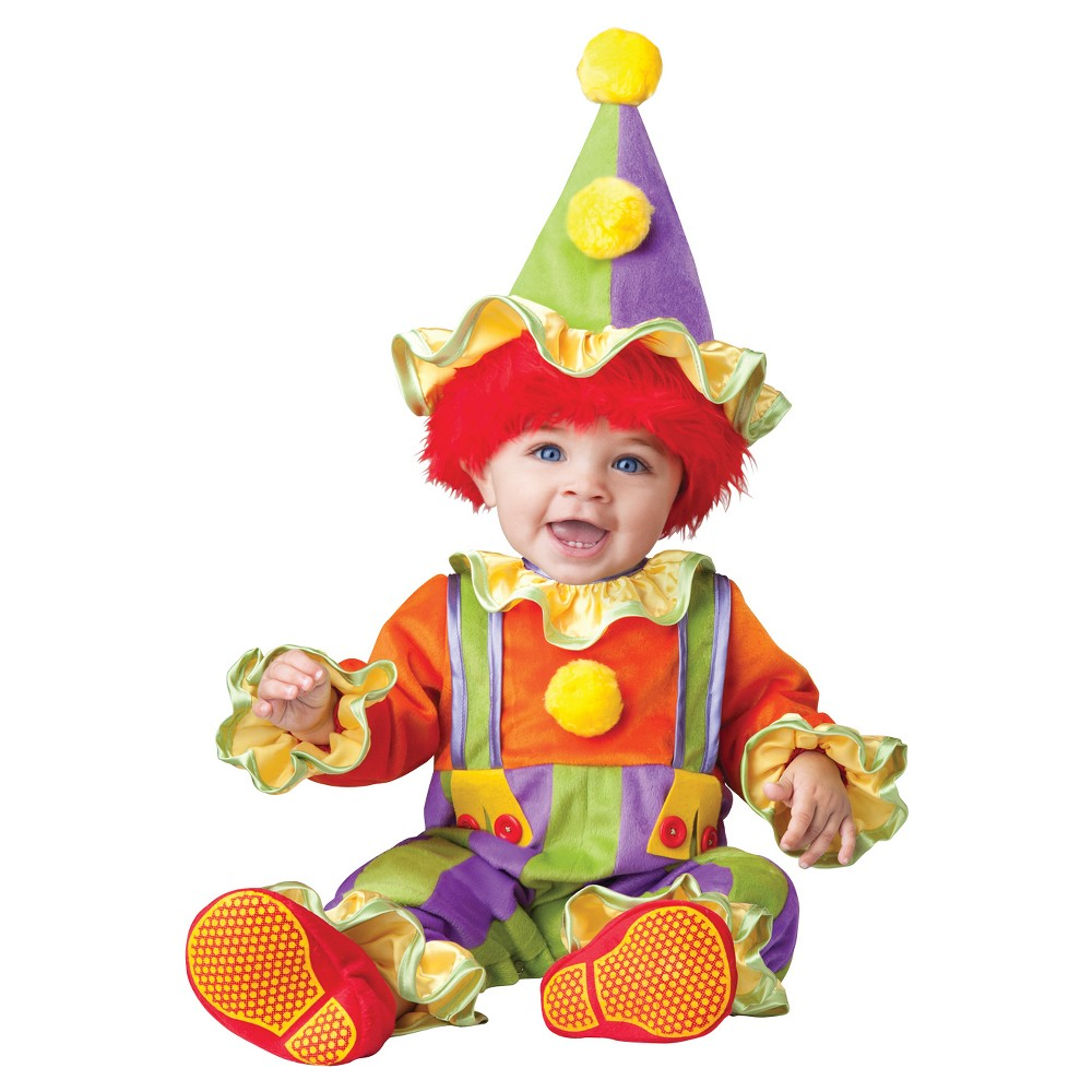 Boys Cuddly Clown Toddler Costume 18-2t, Size: 18-24 M, Multicolored