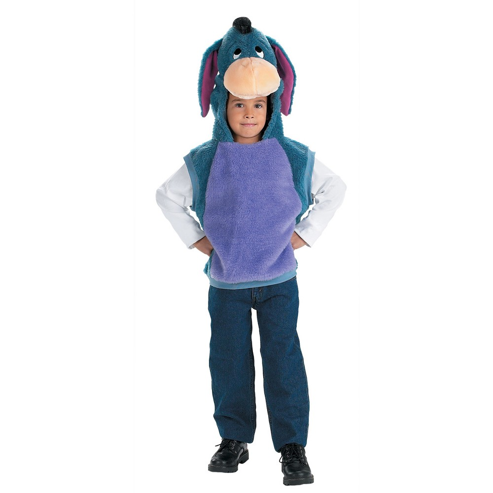 Childs Vest Eeyore Costume - 3T/4T, Kids Unisex, Multicolored