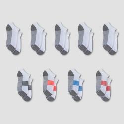 Kids' Hanes Premium® No Show Socks 8 Pack +1 Bonus - White