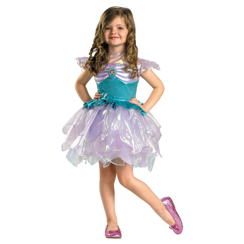 Girls Ariel Toddler Costume, Size: 3T/4T, Multi-Colored
