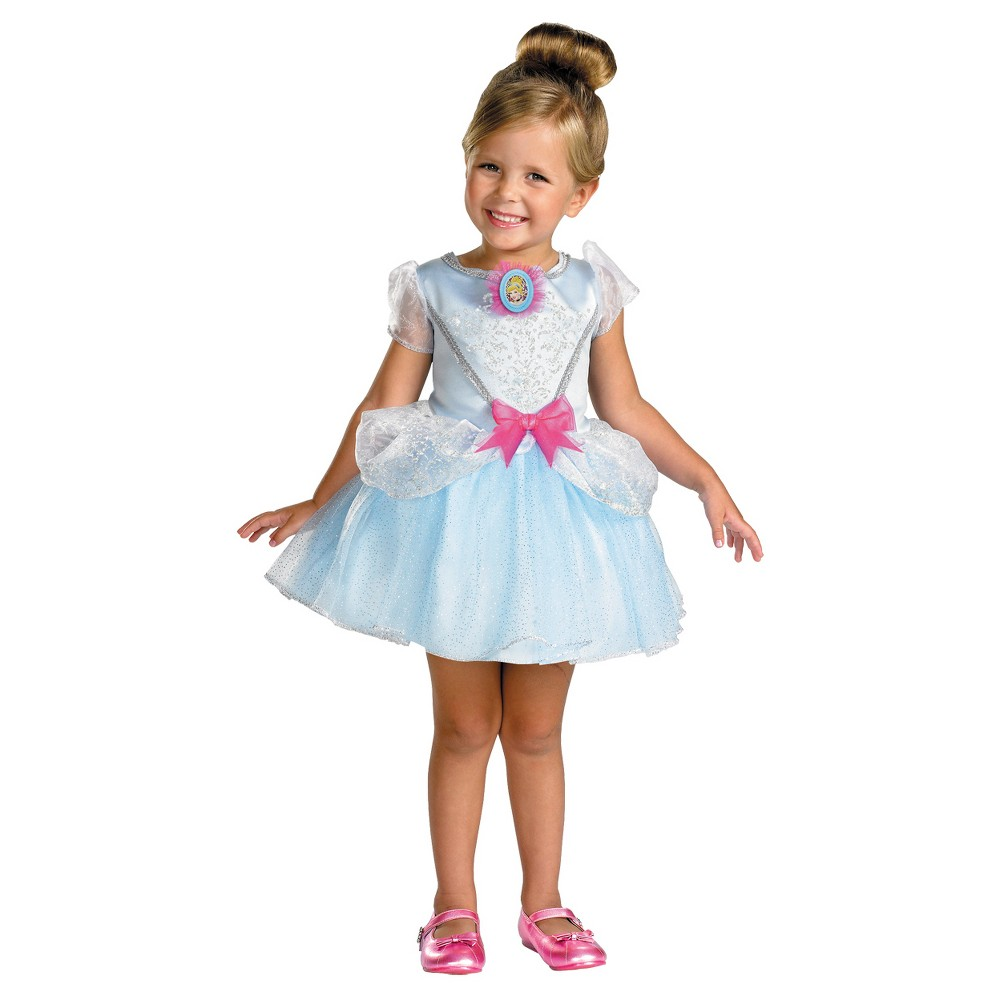 Girls Cinderella Toddler Costume, Size: 3T/4T, Multi-Colored