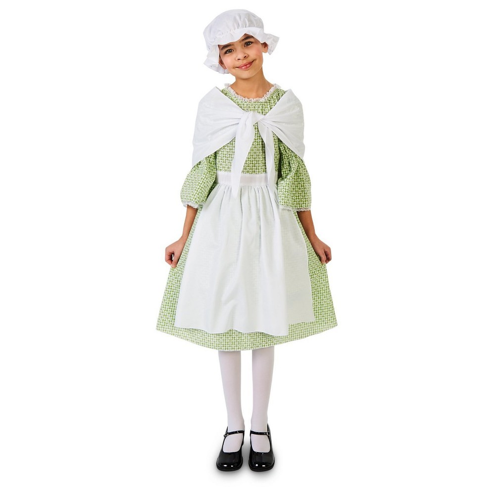Spring Meadow Printed Colonial Girls Costume M (8-10), Multicolored