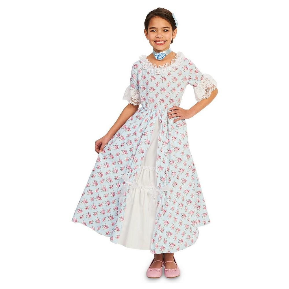 Girls Fancy Early American Dress Costume L(12-14), Multicolored