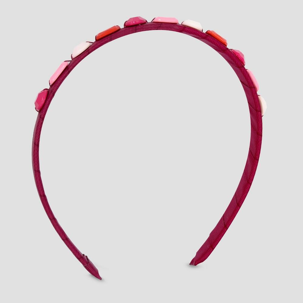 Girls Jewels Headband - Cat & Jack Maroon (Red)