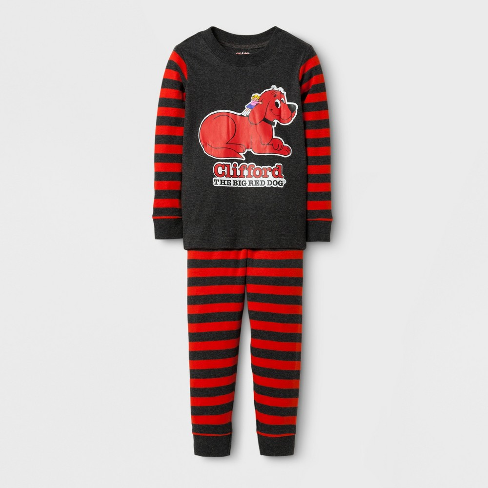 Eric Carle Toddlers Clifford Long Sleeve Pajama Set - Gray 3T, Toddler Boys, Multicolored