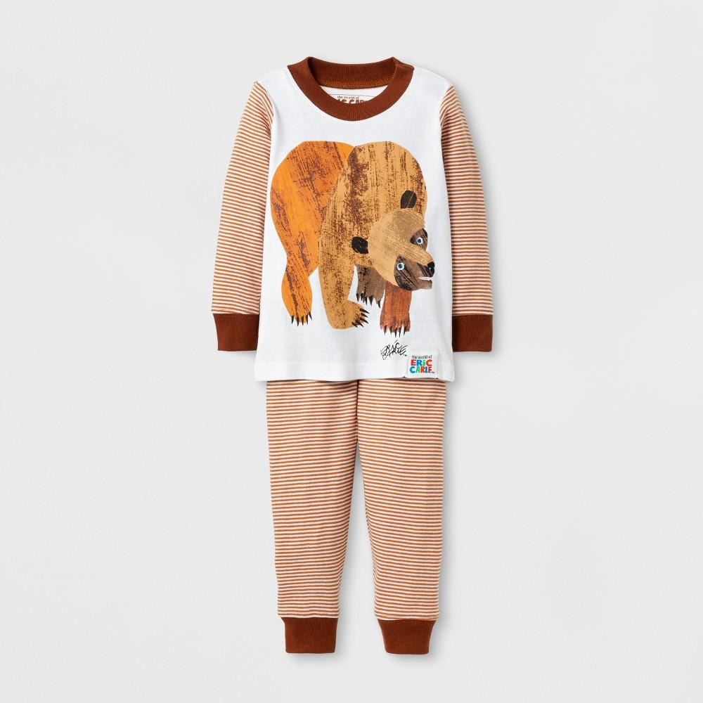 Eric Carle Babys Brown Bears Long Sleeve Pajama Set - Brown 18M, Infant Boys, Multicolored