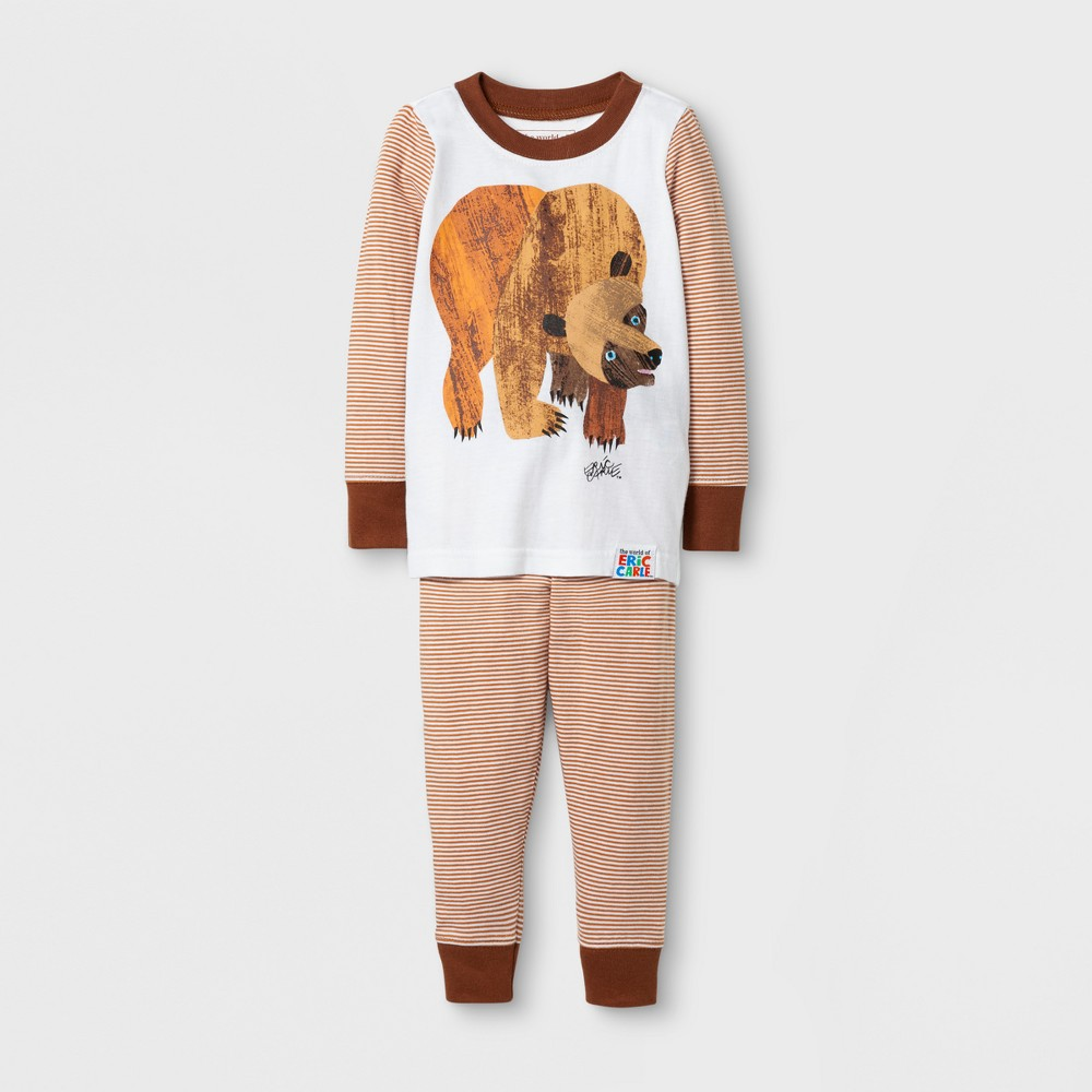 Eric Carle Toddlers Brown Bears Long Sleeve Pajama Set - Brown 5T, Toddler Boys, Multicolored