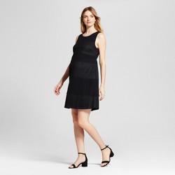 Maternity Lace Blocked Shift Dress - Fynn & Rose Black