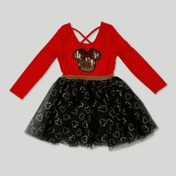 Toddler Girls' Minnie Mouse Ballerina Dress - Red