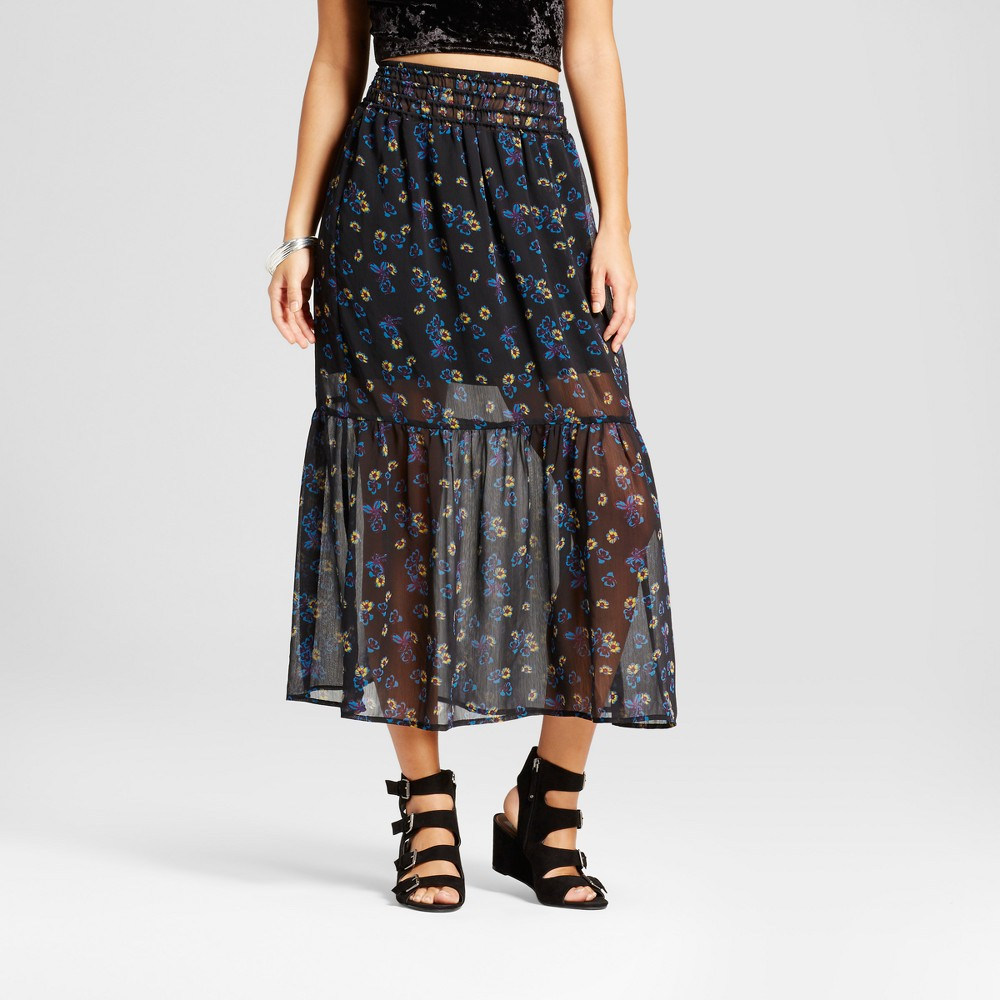 Womens Woven Maxi Skirt - Xhilaration (Juniors) Black XS