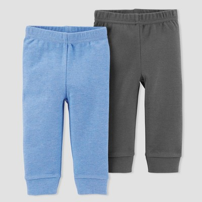 Baby Boys' 2pk Pants - Just One You® made by carter's Blue Heather/Gray Newborn