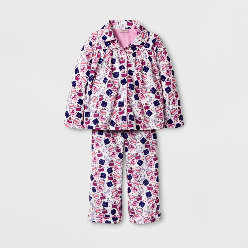 Sleepimini Girls Cupcake Coat Pajama Set - Ivory 6/6X, White