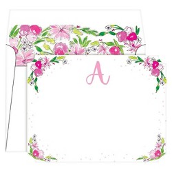 Die-Cut Social Set Floral Crest Monogram