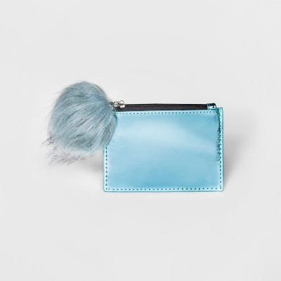 Zip-Top Card Case with Faux Fur Pom - A New Day