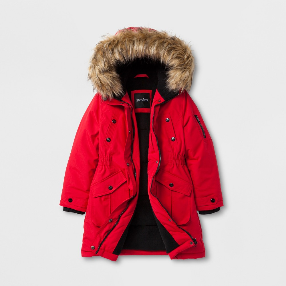 Stevies Girls Parka - Red M