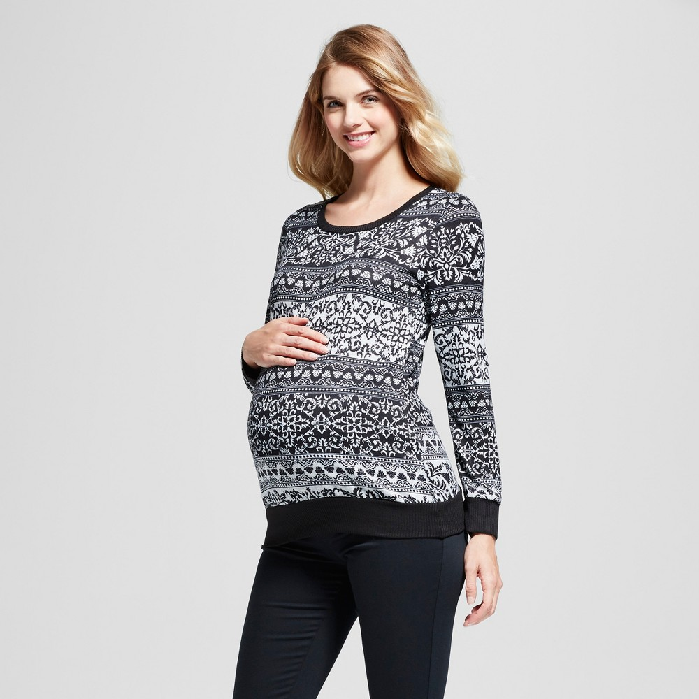Maternity Tribal Printed Long Sleeve Top MaCherie Black S, Infant Girls
