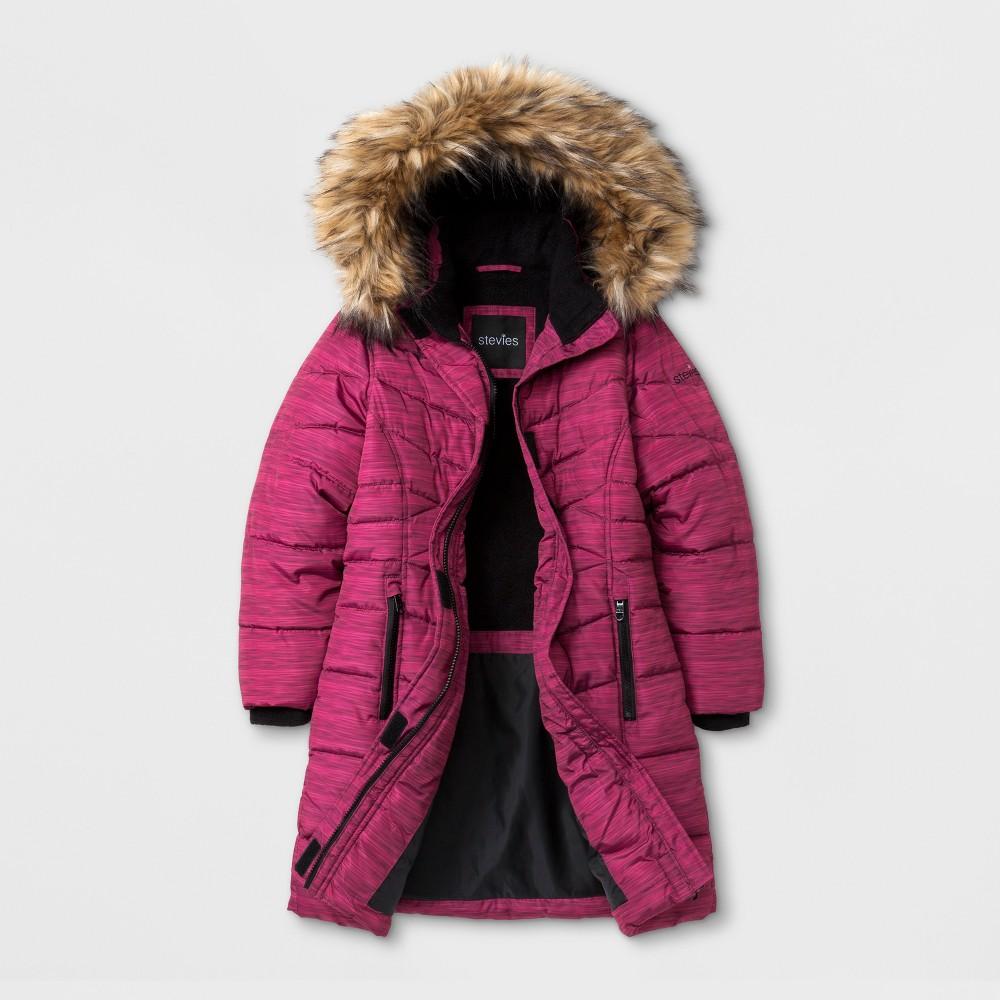 Stevies Girls Puffer Jacket - Pink S