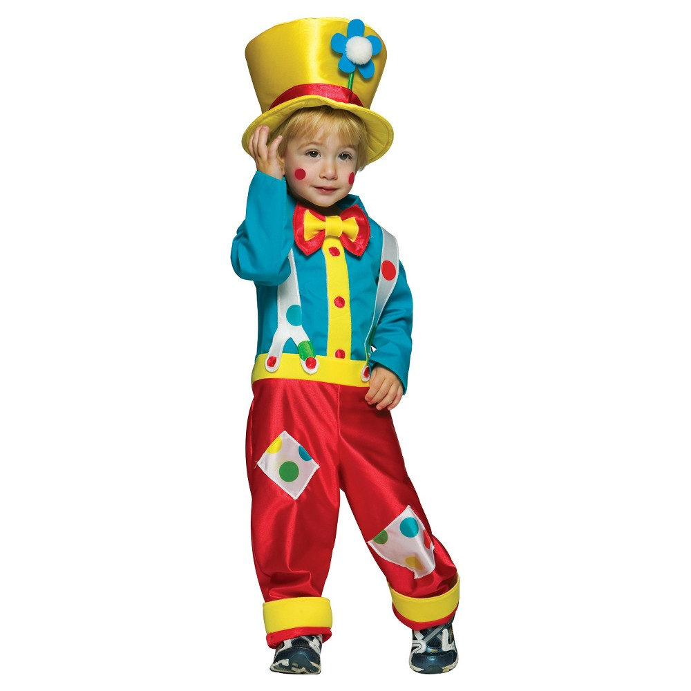 Boys Clown Costume - 3T/4T, Multi-Colored