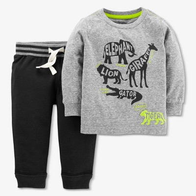 Baby Boys' Animals 2pc Pants Set - Just One You® made by carter's Gray 9M