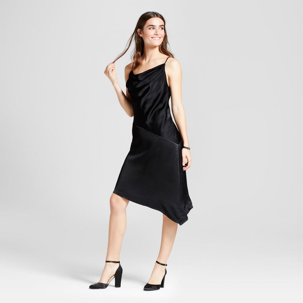 Women's Satin Slip Dress Mossimo Black Xs