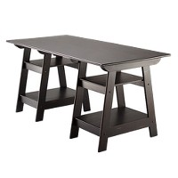 Madison Large Trestle Desk (Antique Black)
