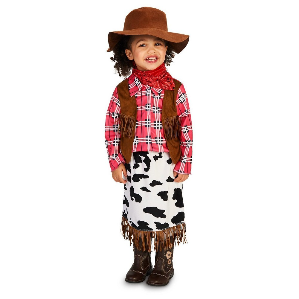 Cowgirl Princess Toddler Costume 2-4T, Toddler Girls, Size: 2T-4T, Multi-Colored