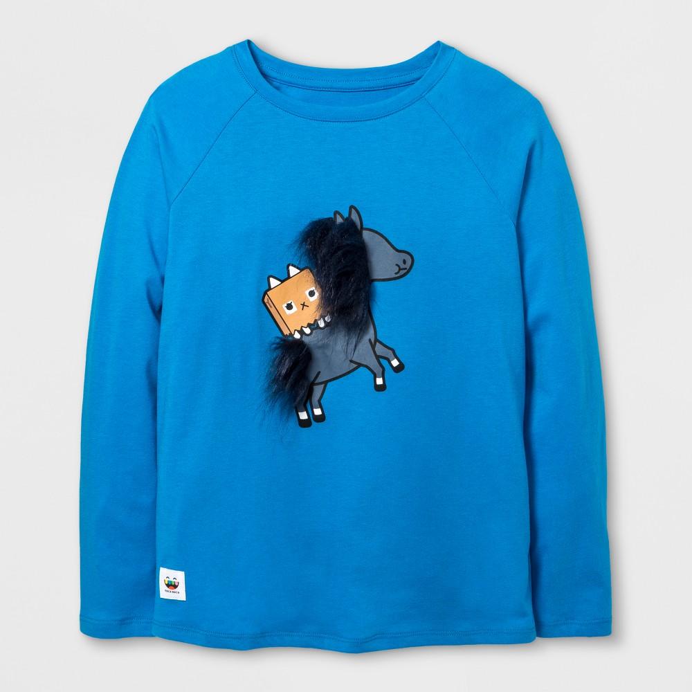 Girls Toca Boca Horse Graphic Long Sleeve T-Shirt - Blue XS