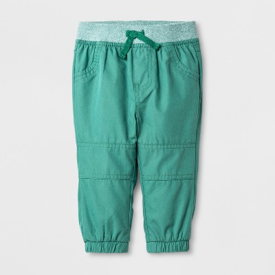 Baby Boys' Jogger Pants - Cat & Jack™ Forest Green 3-6 M