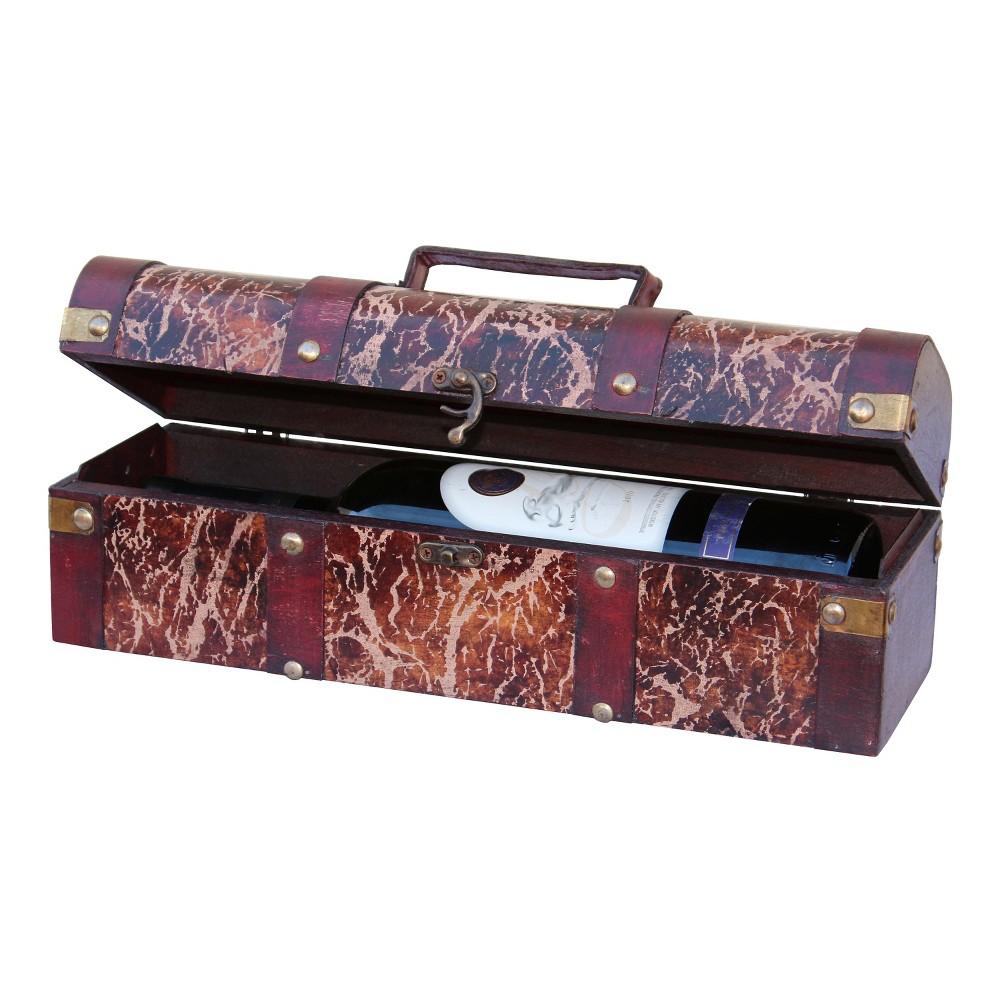 Distressed Wood Wine Box - Wine Bottle Holder - Brown -Vi...