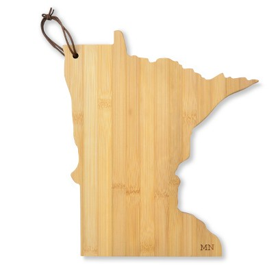 MN State Outline Cheese Board Bamboo 10.5 x6  - Mara Mi