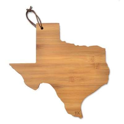 TX State Outline Cheese Board Bamboo 10.5 x6  - Mara Mi