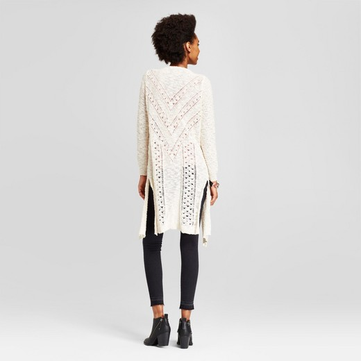 Women's Pointelle Duster Cardigan - Love @ First Sight® (Juniors ...