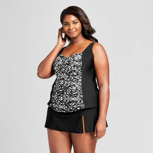 Women's Plus Twist Front Tankini - Ava & Viv™ - image 1 of 5