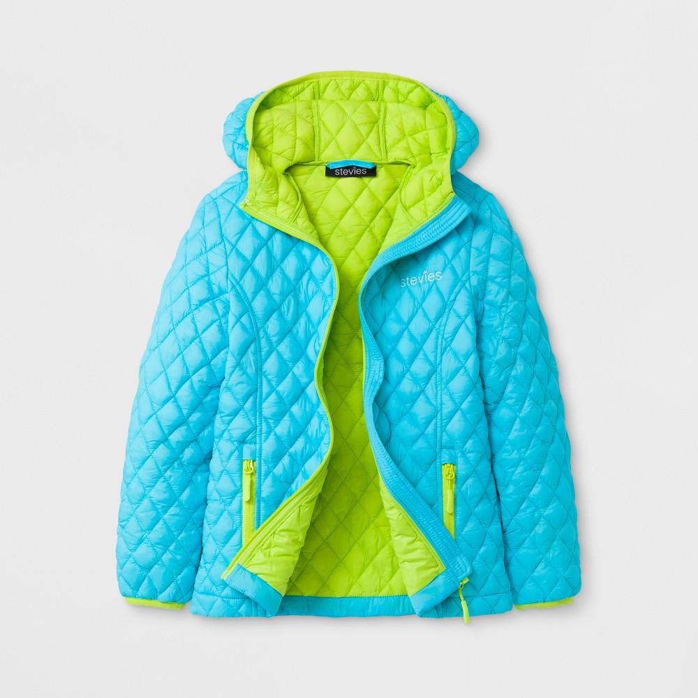 Stevies Girls Puffer Jacket - Blue L