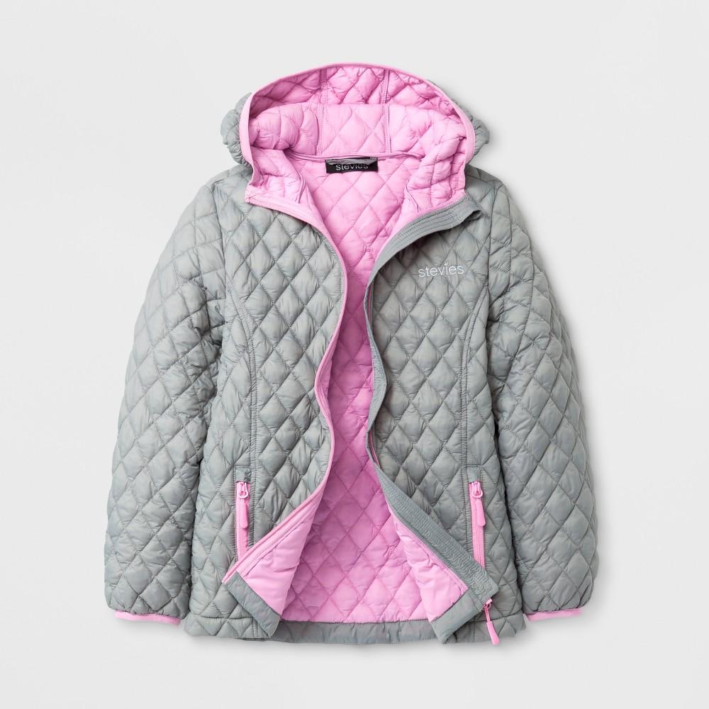 Stevies Girls Puffer Jacket - Gray S