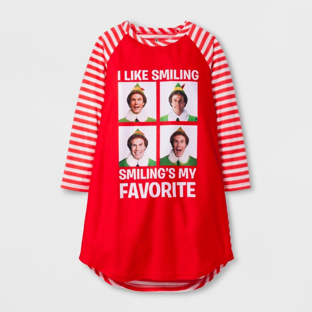 ELEK-TEK Girls' Elf Smiling's Raglan Gown Red M, Size: M ...