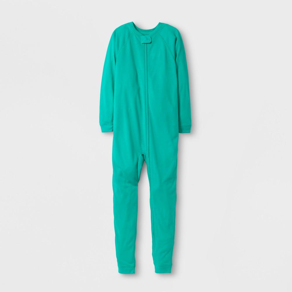 Girls Adaptive Full Body Sleepwear - Cat & Jack Green 7