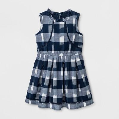 Toddler Girls' A Line Dress - Genuine Kids™ from OshKosh® - Nightfall Blue 12M