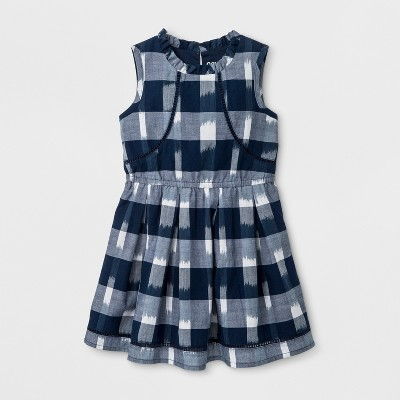 Toddler Girls' A Line Dress - Genuine Kids™ from OshKosh® Nightfall Blue 3T