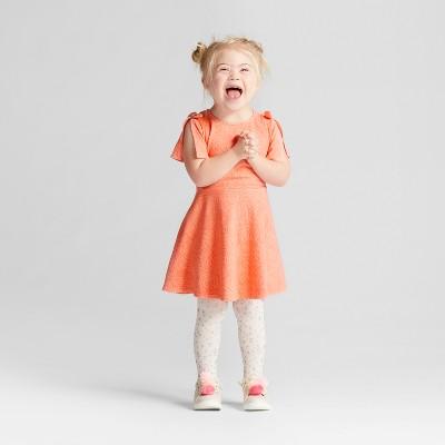 Toddler Girls' Knit Jacquard Dress - Genuine Kids™ from OshKosh® Sunbeam Pink 18M